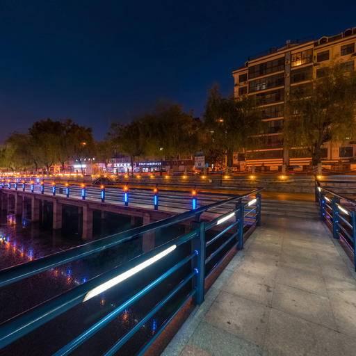 唐王河公园夜景地拍 全景云 全景vr图片 虚拟现实 vr 360°
